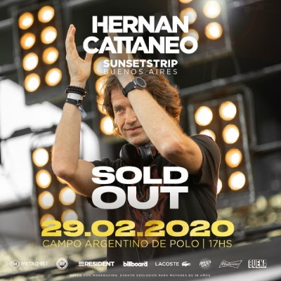 Hernán Cattáneo y un nuevo SOLD OUT: Sunsetstrip Buenos Aires!
